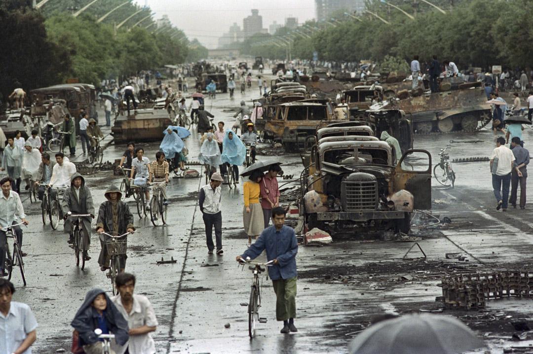 1989年6月5日,六四鎮壓後的北京街道。 攝:David Turnley/Corbis/VCG via Getty Images