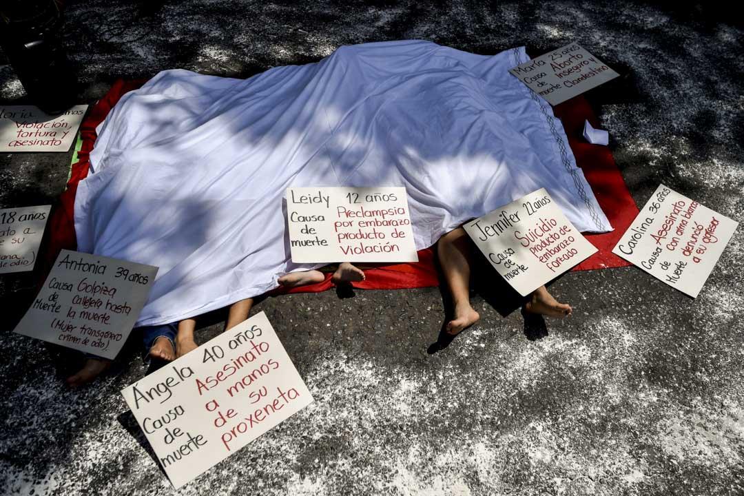 2018年11月25日,哥倫比亞卡利舉行的一個消除對婦女暴力的示威。