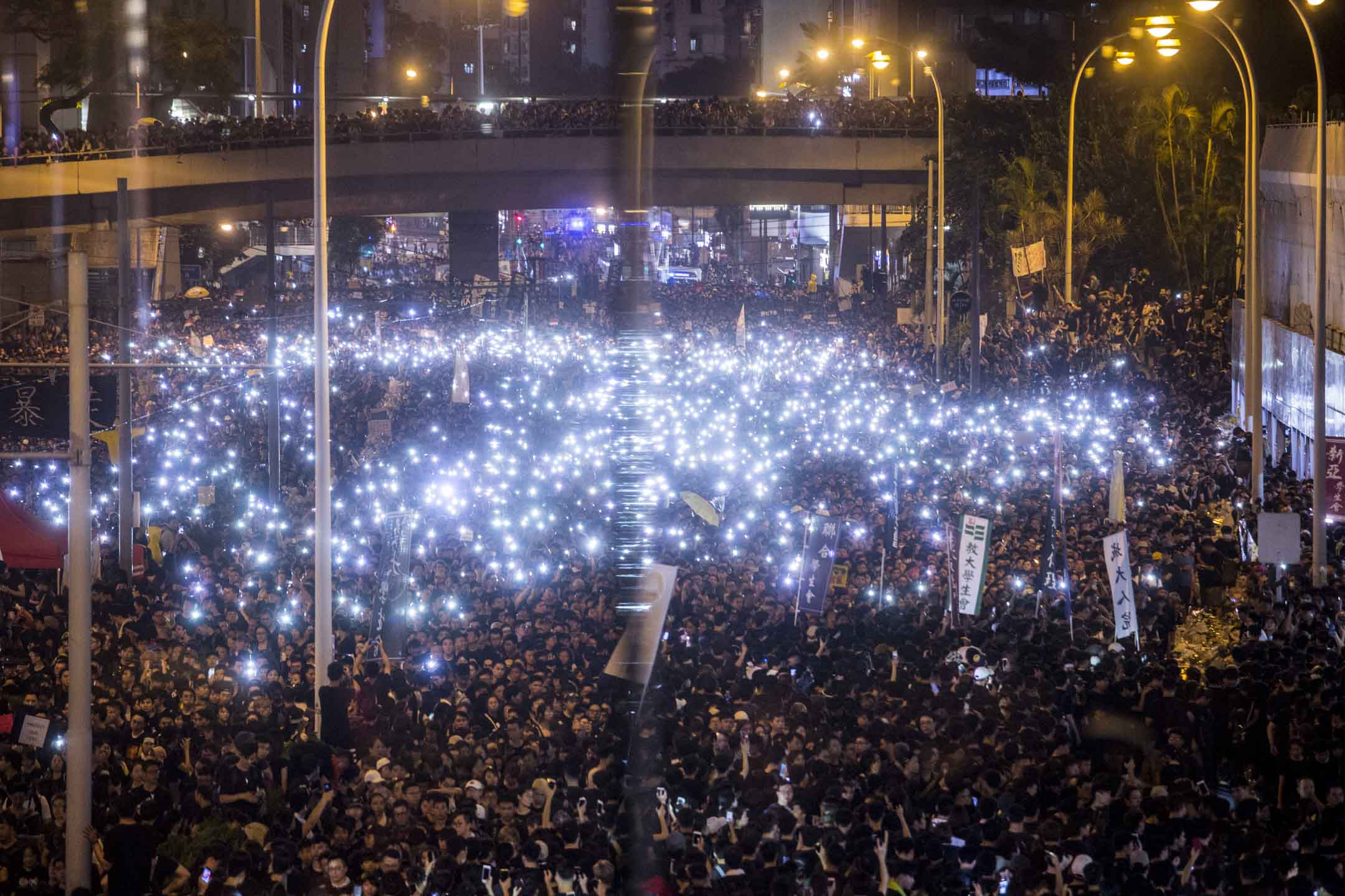 2019年6月16日,民陣發起反對《逃犯條例》修訂的「反送中」大遊行。 攝:林振東/端傳媒