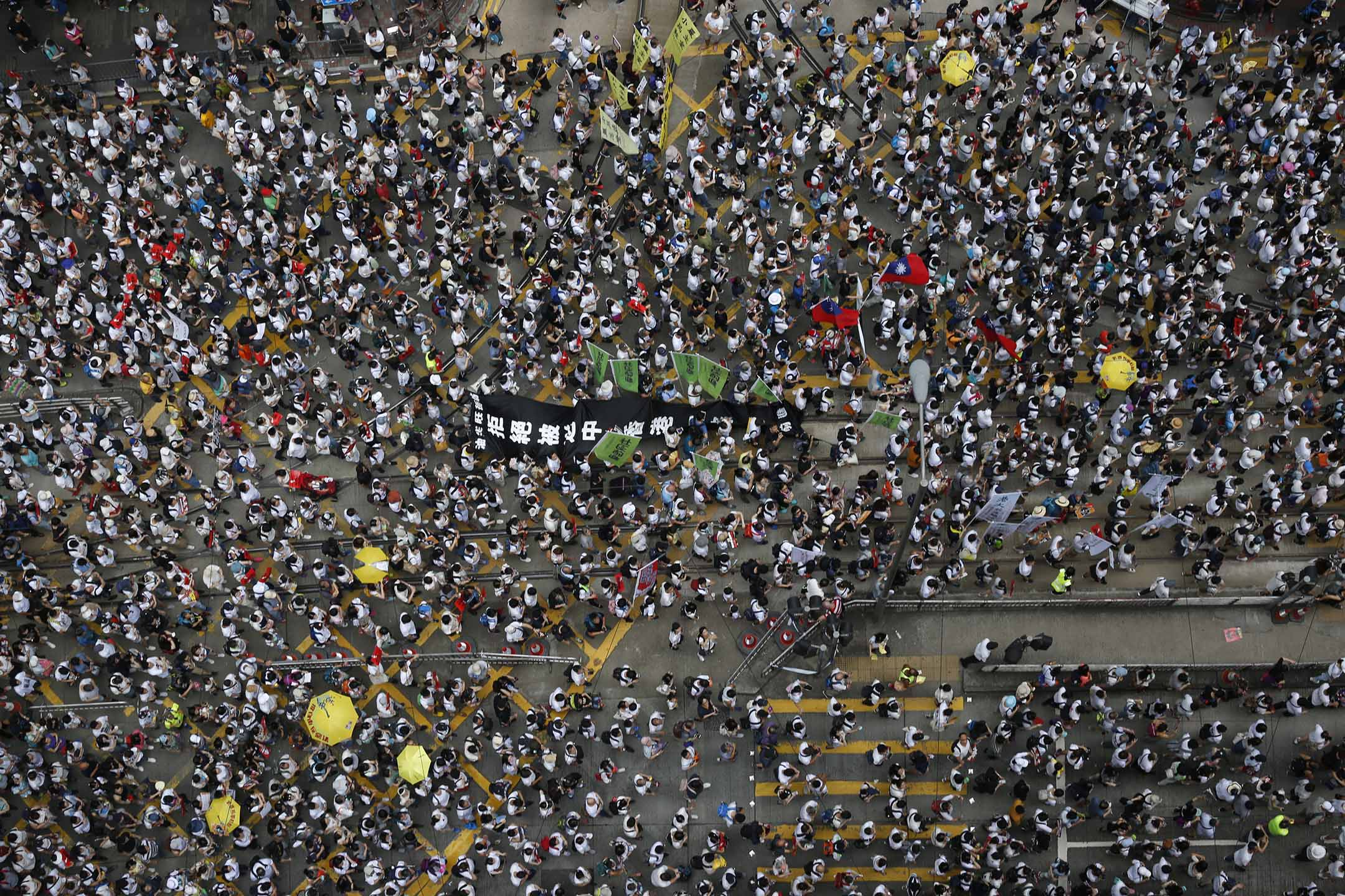 2019年6月9日,民間人權陣線發起「反送中」遊行。