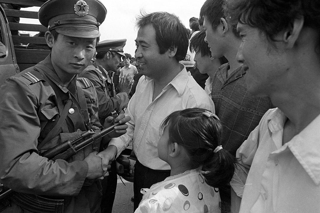 1989年5月23日,北京學運。