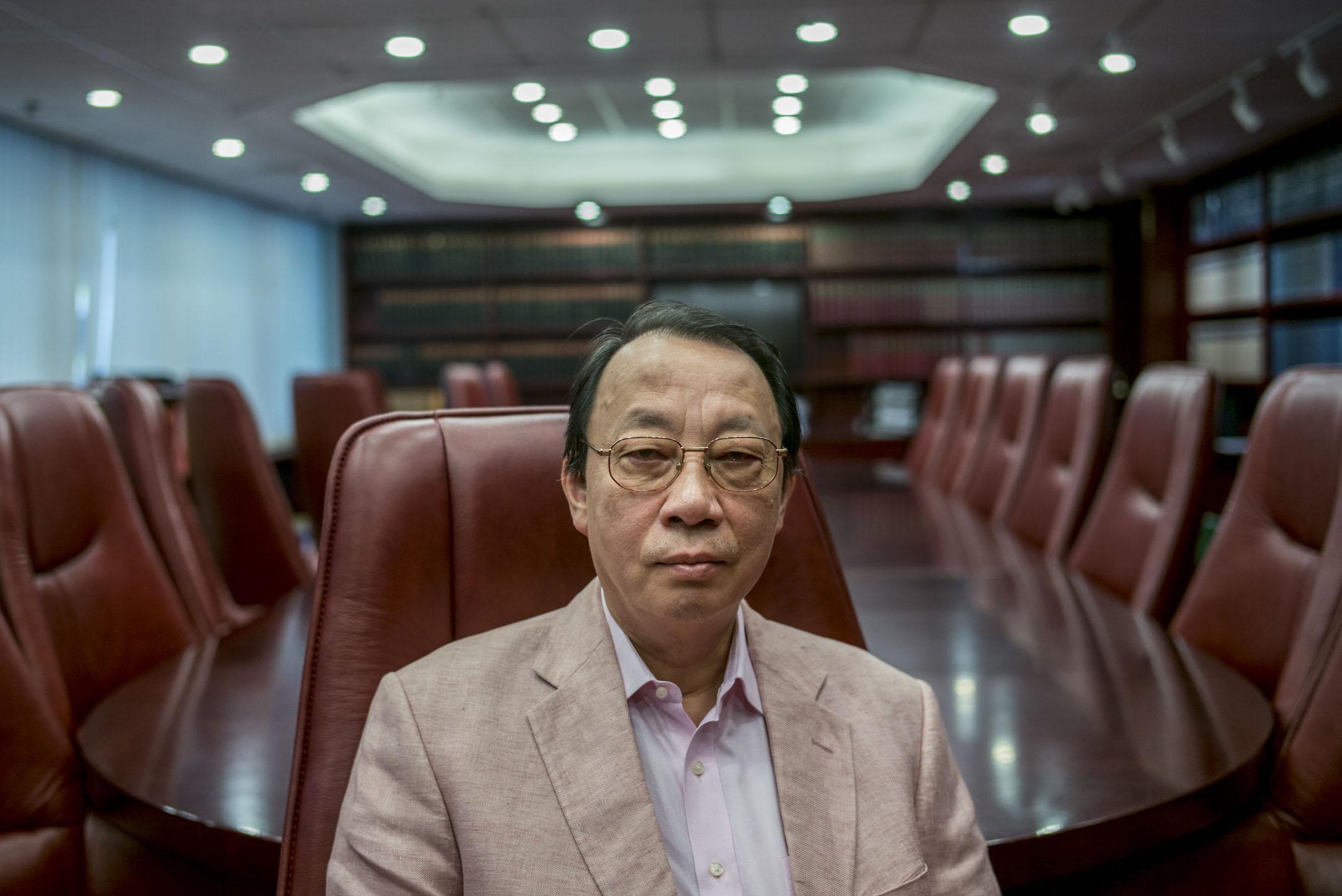 陳景生資深大律師。 攝:林振東/端傳媒