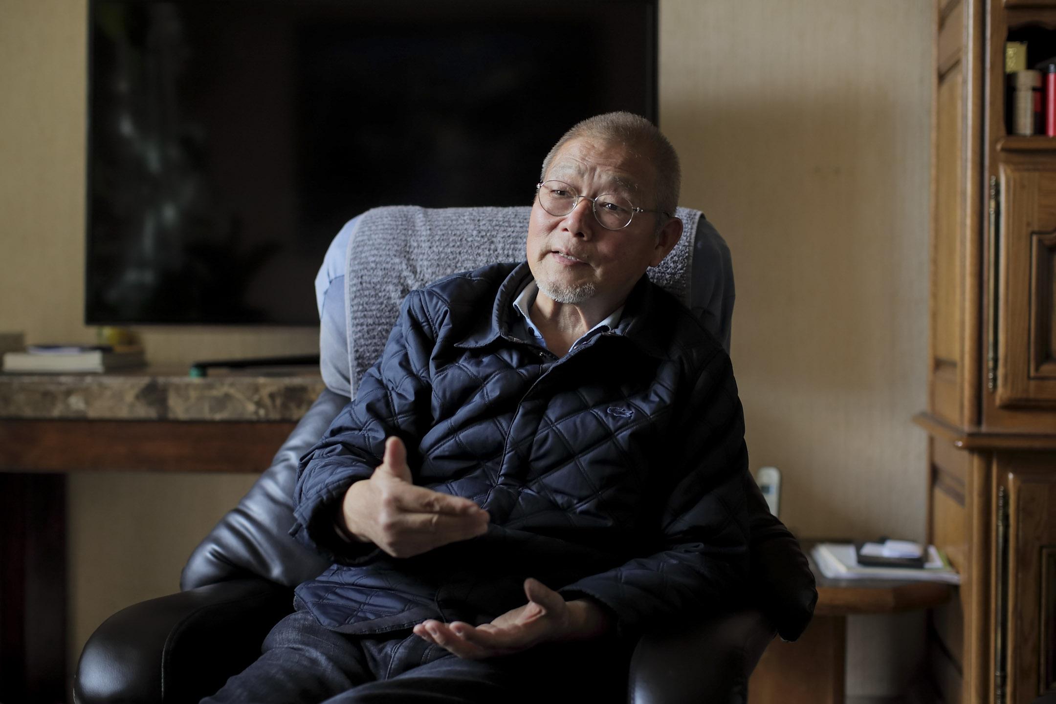 海外民運的標誌性人物之一,72歲的萬潤南。 攝:凱楓/端傳媒