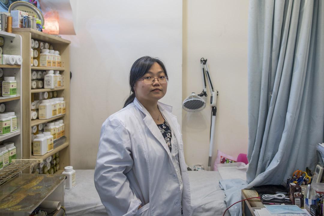 長春藤中醫館的馬欣祺中醫師也參與罷市。