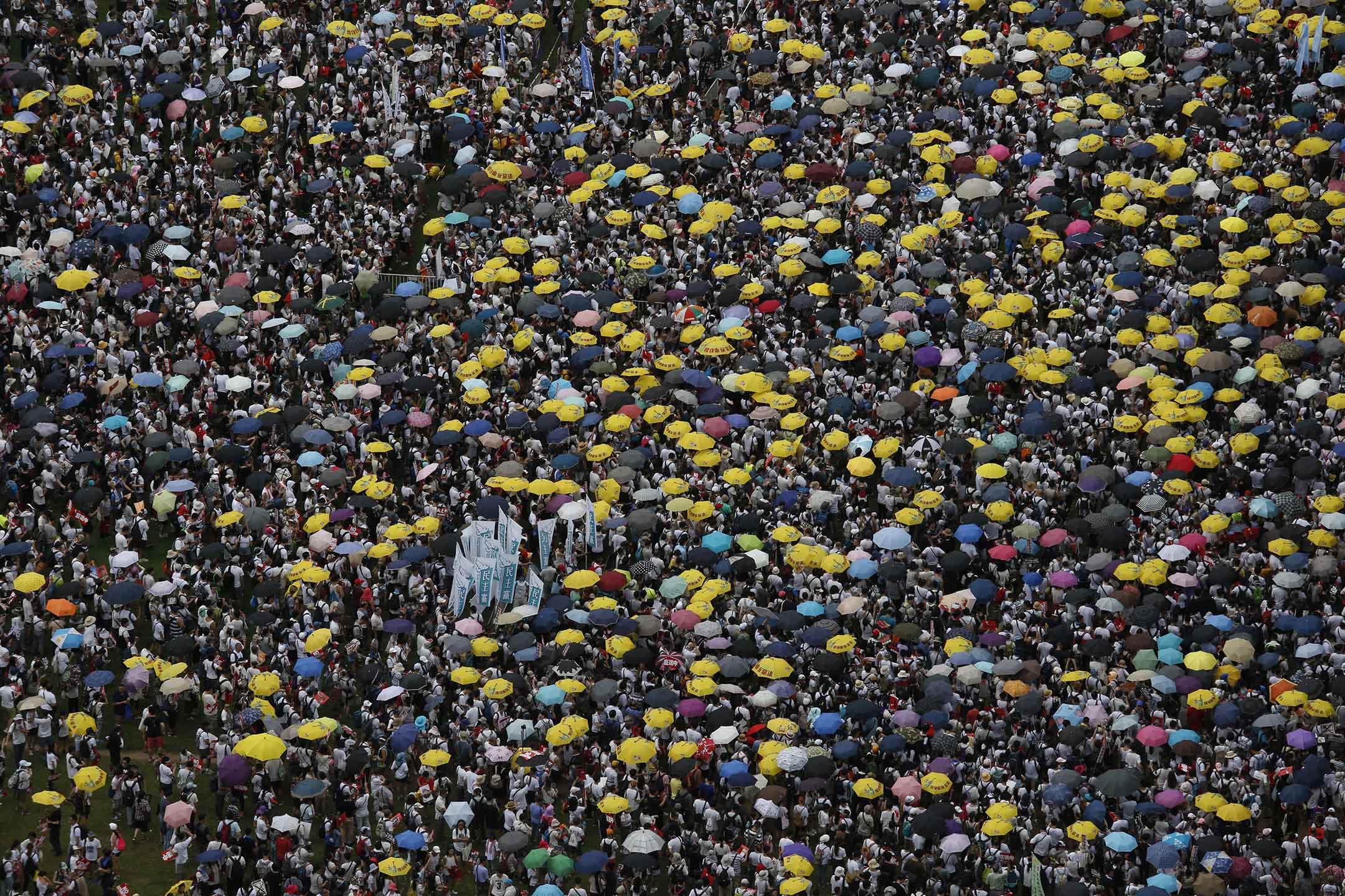 2019年6月9日,103萬港人上街反對《逃犯條例》修訂,創回歸後歷史新高。