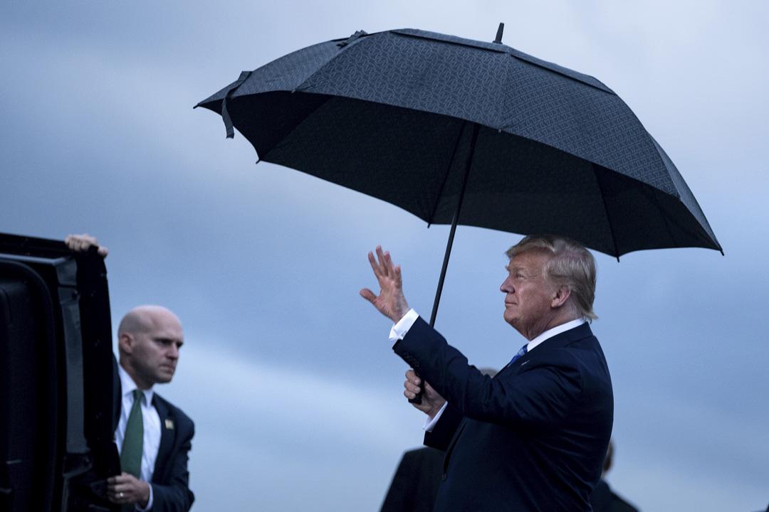 2019年6月27日,美國總統特朗普抵達大阪關西國際機場。