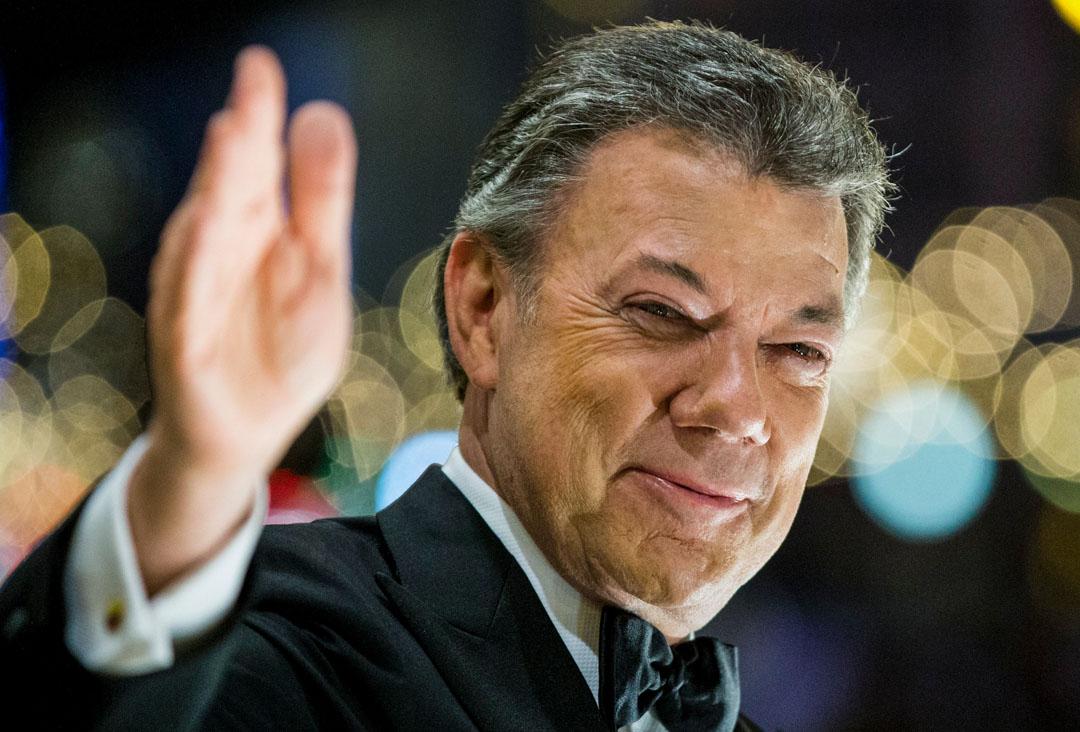 哥倫比亞總統桑托斯(Dos Santos)獲得2016年的諾貝爾和平獎。