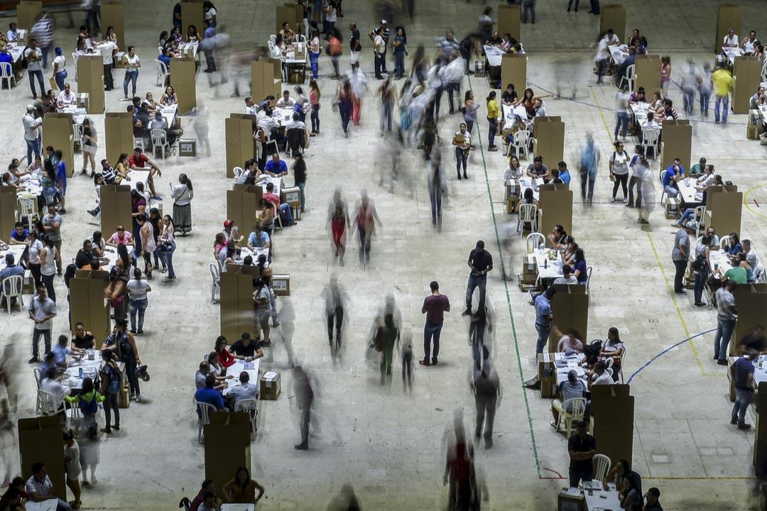 2018年5月27日,哥倫比亞舉行第一輪總統選舉,其中卡利一個選投票站。