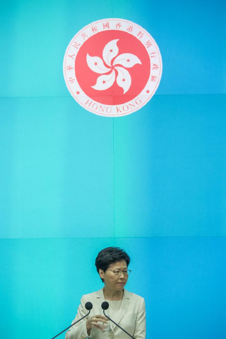 2019年6月18日,林鄭月娥在政府總部召開記者會,期間表示向每一名市民真誠道歉。