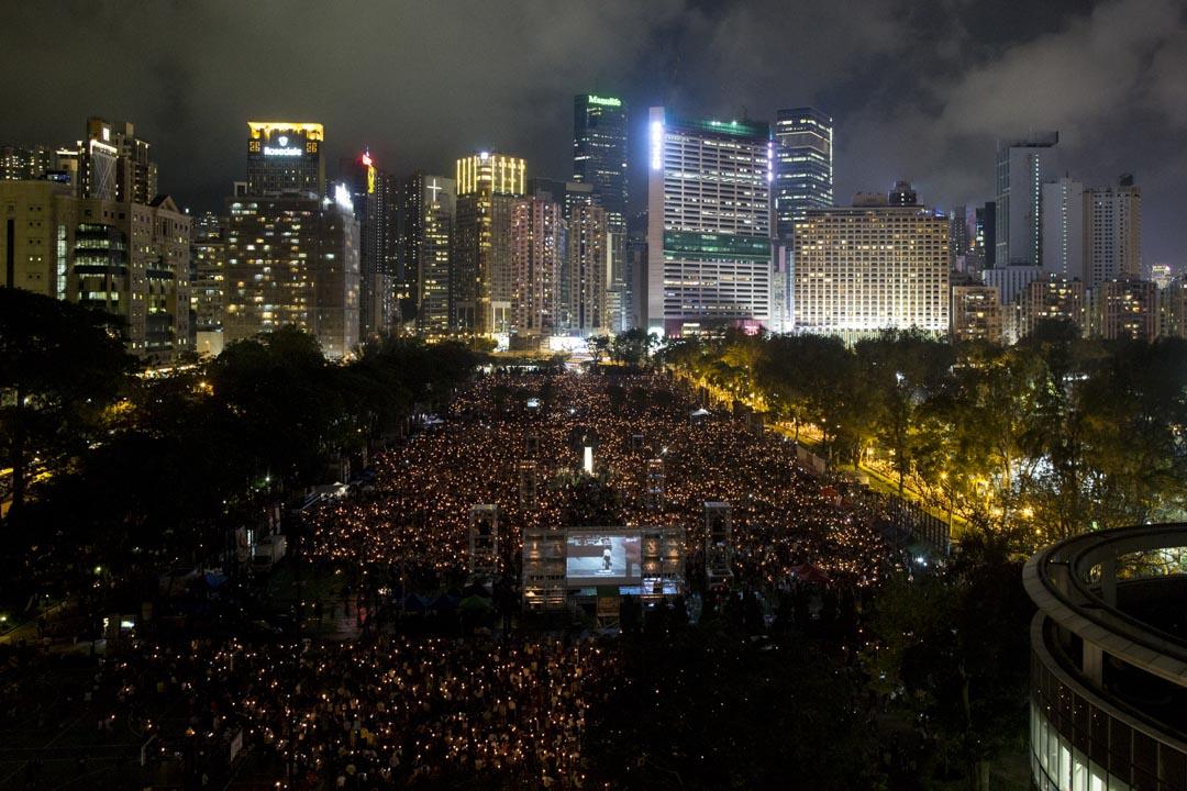 2019年6月4日,六四三十週年維園集會,人數高達18萬。