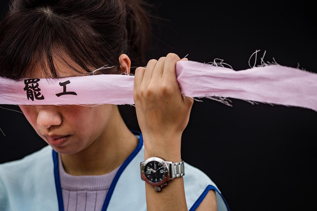 2019年6月27日,長榮空服員罷工踏入第八天。 攝:陳焯煇/端傳媒