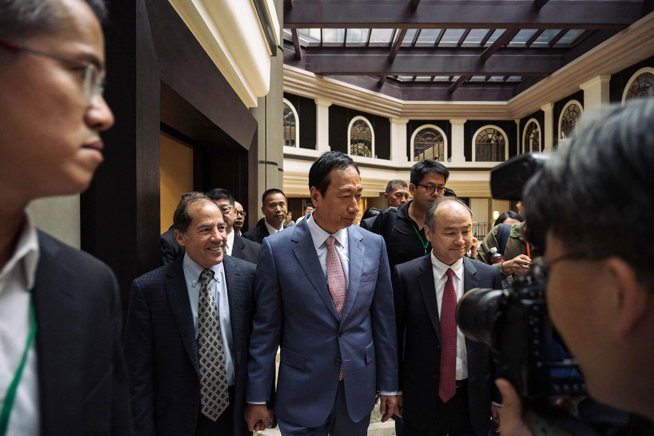 2019年6月22日,富士康科技集團中心前董事長郭台銘在台北舉行的「G2 and Beyond:全球產業秩序的解構與創新」研討會。郭台銘於6月21日辭去鴻海董事長的職務,專注於參加2020年台灣總統選舉國民黨初選。