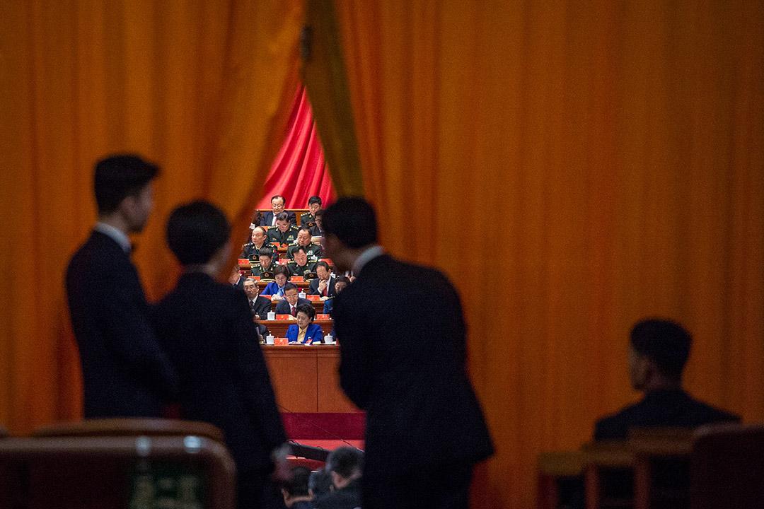 2017年10月18日,中國國家主席習近平在中國共產黨第十九次全國代表大會上講話。