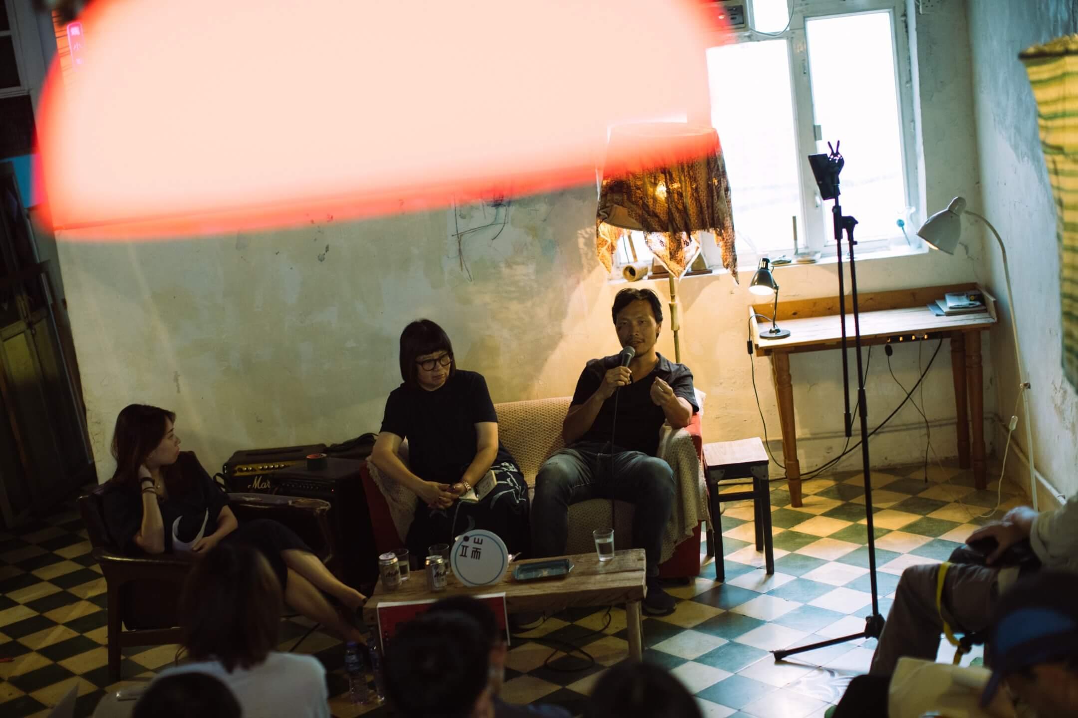 導演應亮和編劇陳慧的對談。 攝:Stanley Leung/端傳媒