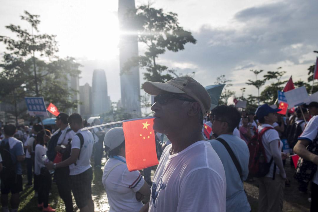 2019年6月30日,添馬公園撐警集會。