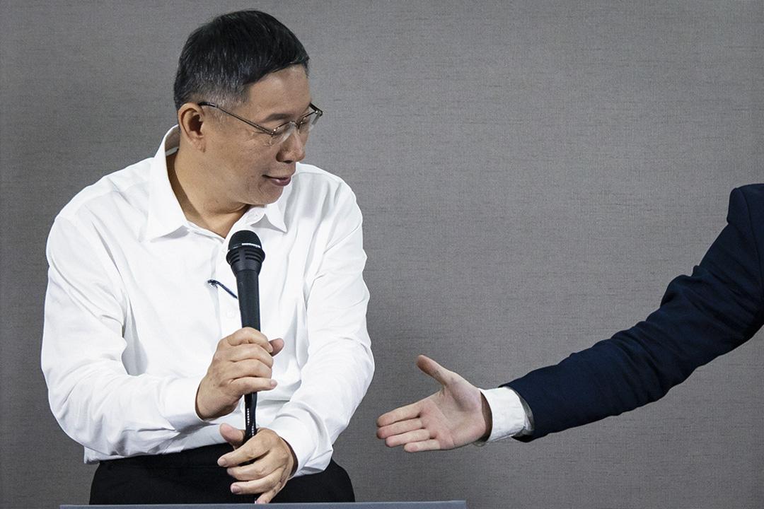 2018年11月10日,柯文哲出席台北市長電視辯論會。