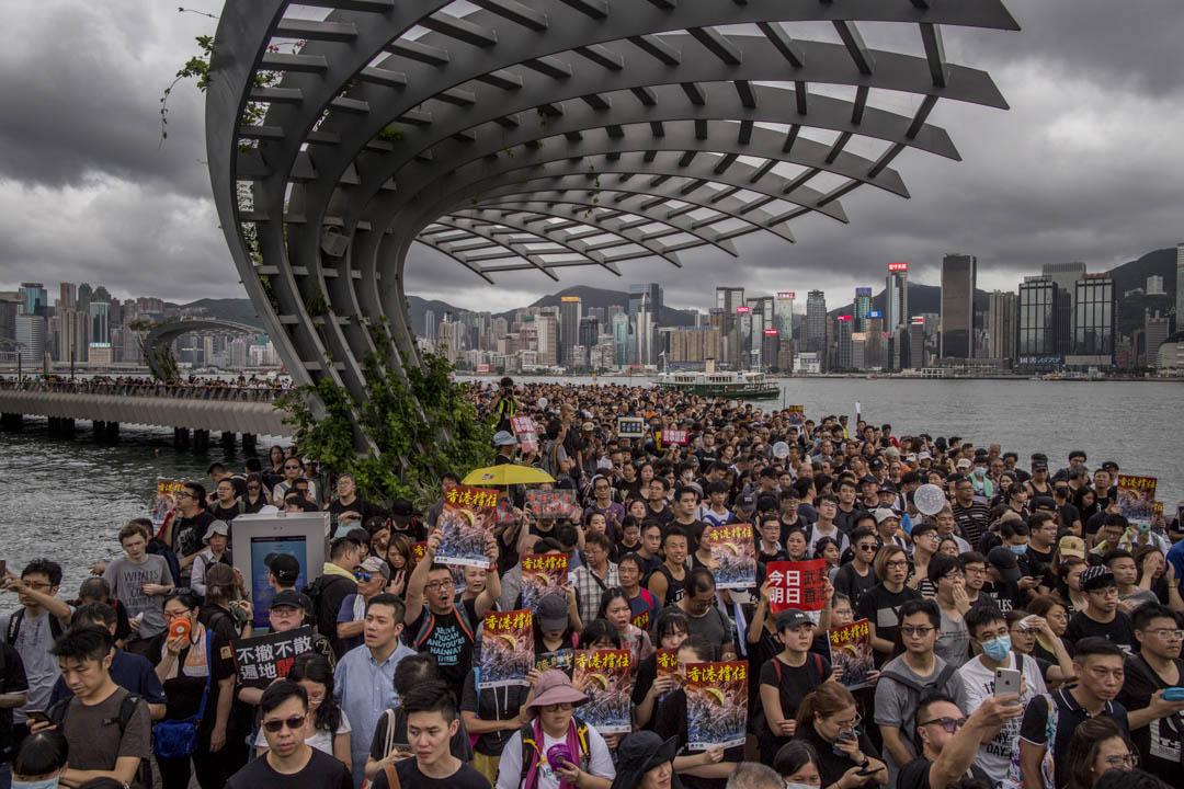 2019年7月7日,香港九龍區反修例大遊行。
