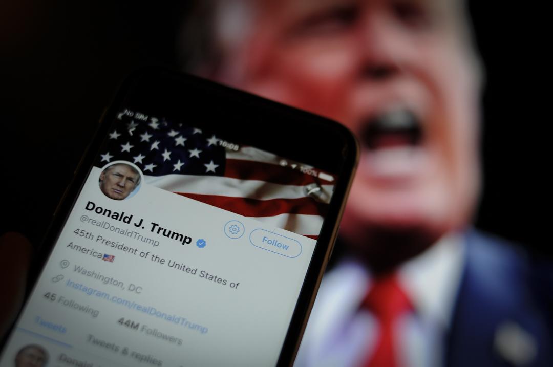美國聯邦上訴法院上周宣示Donald Trump總統在Twitter上任意封鎖其他用戶涉及侵害言論自由。 攝: Jaap Arriens/NurPhoto via Getty Images
