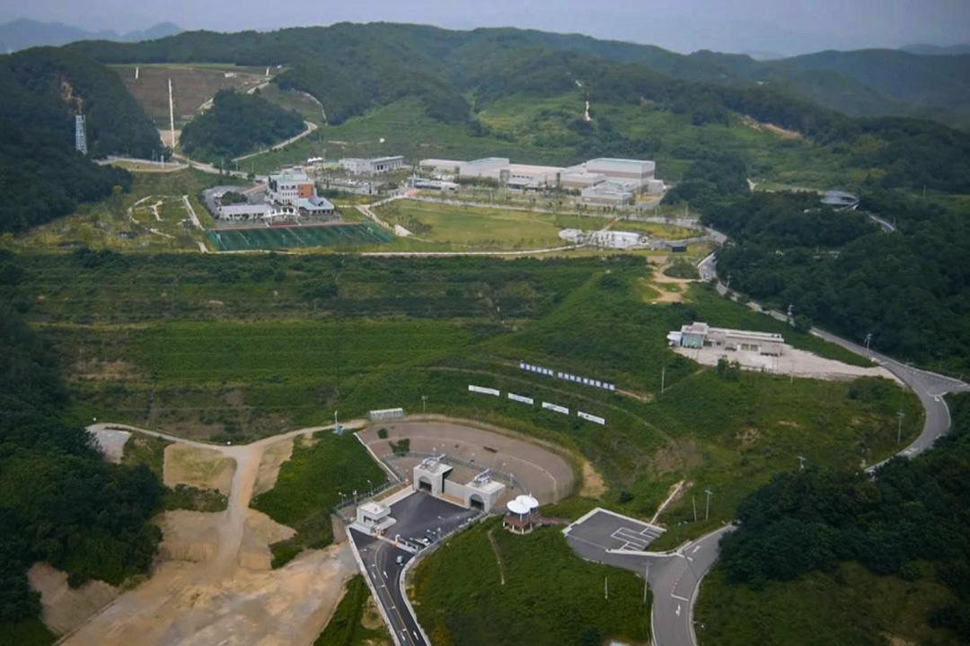 韓國中低階核廢料最終處理場全景。
