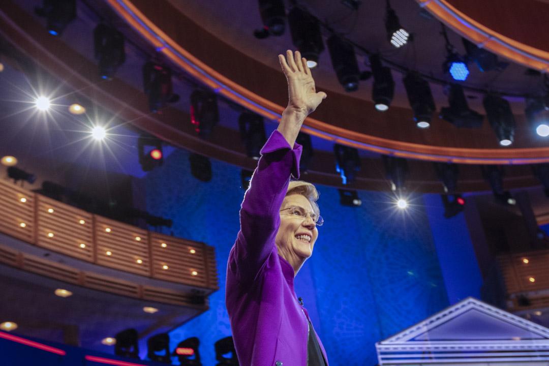 2019年6月26日,美國民主黨初選辯論,沃倫(Elizabeth Warren)。
