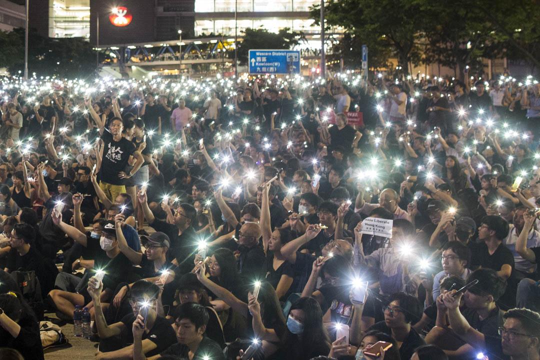 2019年6月26日,民間人權陣線於G20集團峰會舉行前,於中環愛丁堡廣場舉行「G20 Free Hong Kong集會」。