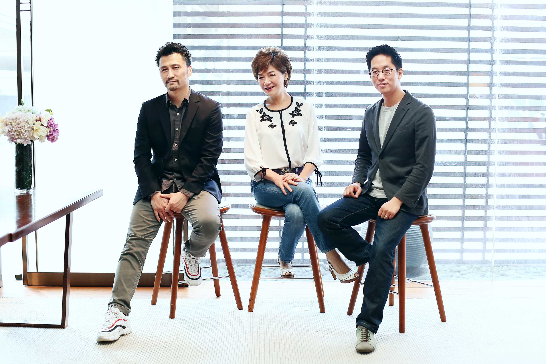 (左起)香港舞蹈團藝術總監楊雲濤、《梁祝 ‧ 傳說》小提琴演奏家姚珏,以及亞洲頂尖作曲家林丰,用舞蹈、音符重新演繹中國傳統民謠。 Elaine、香港舞蹈團