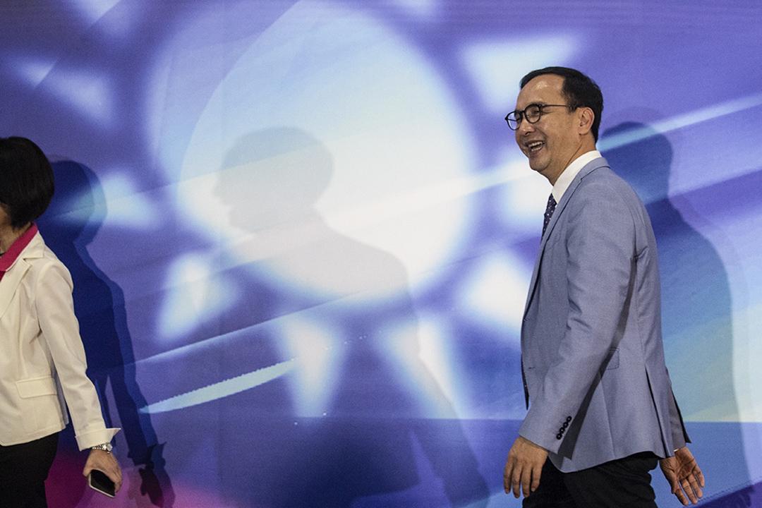 2019年6月25日高雄,2020年總統大選國民黨初選的政見發表會,朱立倫會見傳媒。