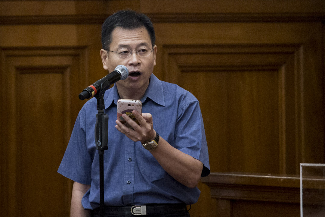 港大畢業生議會常務委員會成員廖振華。