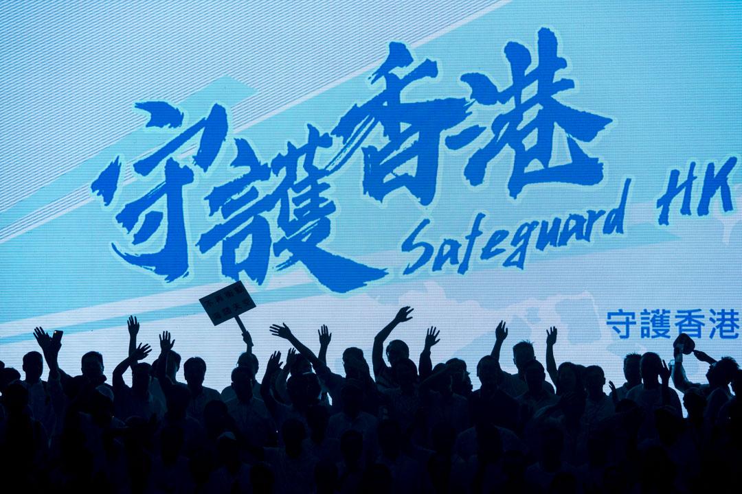 2019年7月20日,金鐘添馬公園舉辦「守護香港」大集會,邀請多名建制派重量級元老、明星等到場聲援。