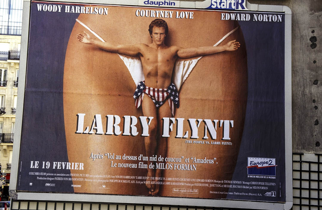 《The People vs. Larry Flynt》電影海報。