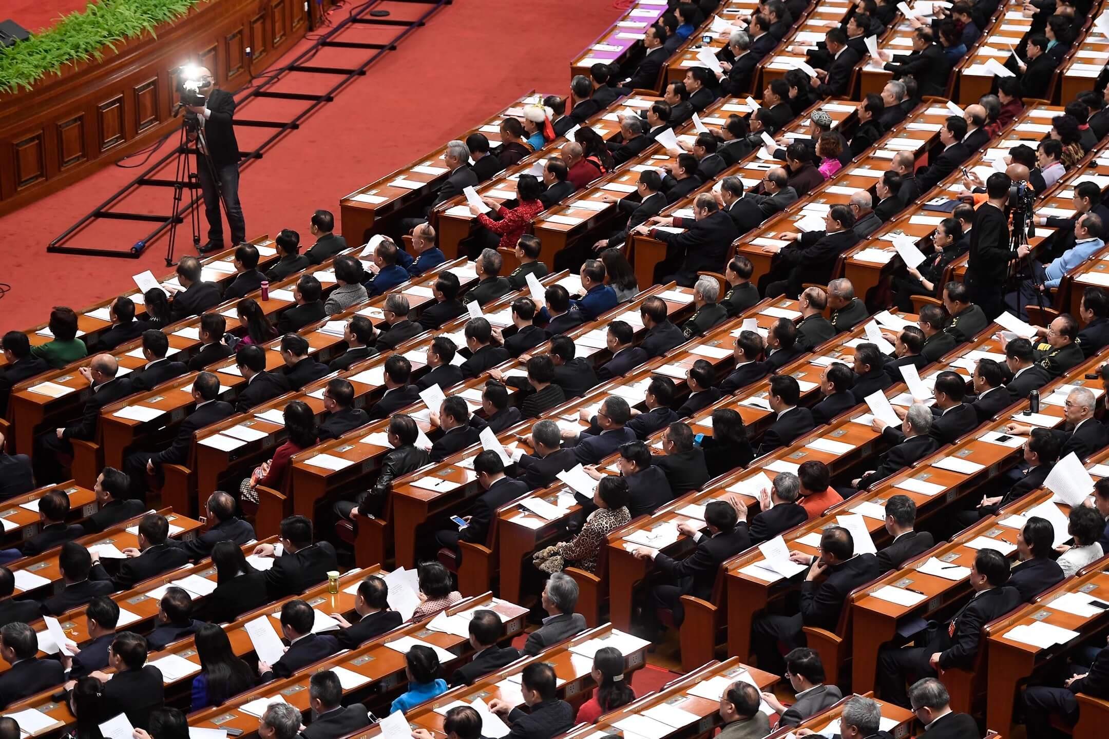 近幾年,傳統媒體在互聯網和政府審查的雙重擠壓下日趨衰落,為了「求生」,它們轉而承包了政府的政務宣傳需求。 攝:Wei Liang/CNS Photo/VCG via Getty Images