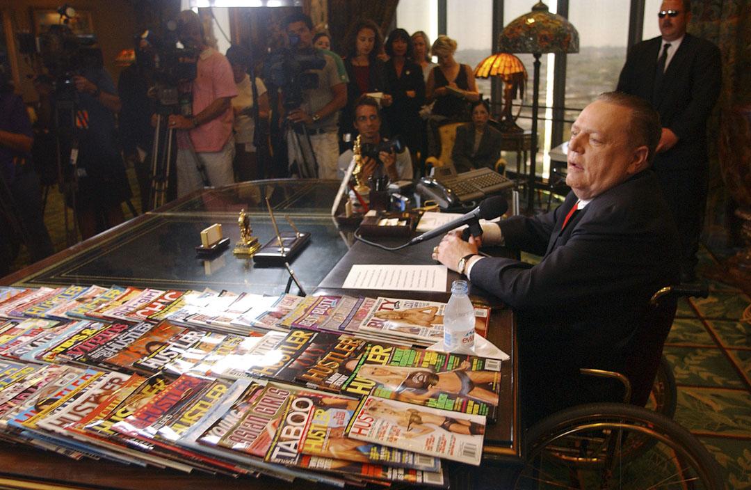 Larry Flynt在洛杉磯舉行記者會。