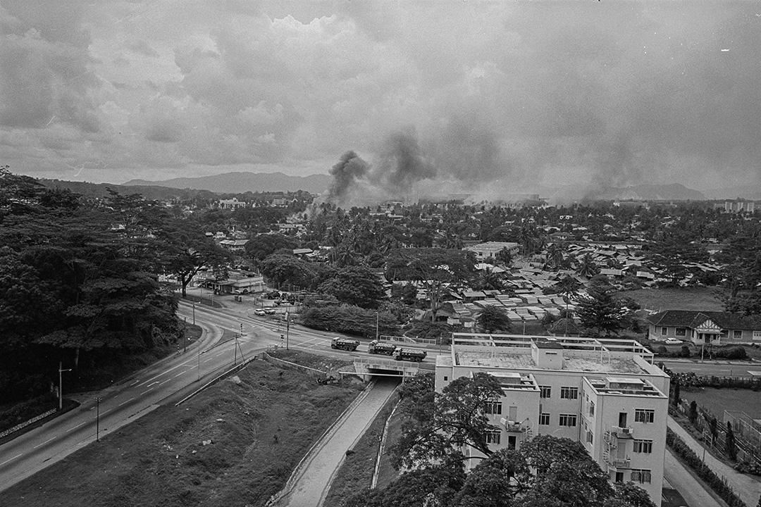 在513事件爆發後,於1969年5月17日,吉隆坡華人區冒出煙霧。