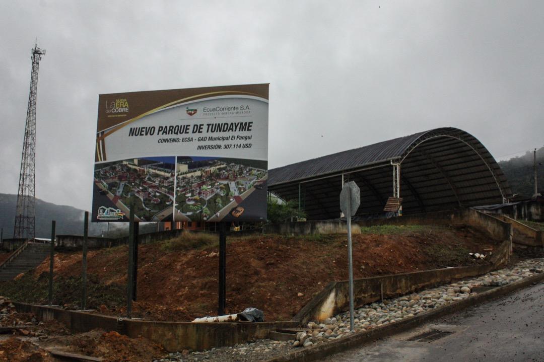 由中國銅陵有色金屬投資有限公司和中國鐵路建設有限公司合資組建的中鐵建銅冠公司銅達伊米(Tundayme)鎮附近投資露天銅礦米拉多。圖為銅冠在銅達伊米鎮投資在建的公園項目。