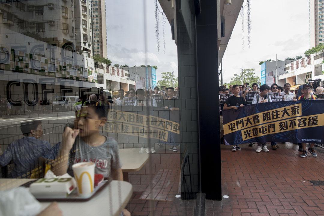 2019年7月6日,「光復屯門公園」行動,遊行起點由屯門新和里遊樂場步行至屯門公園。