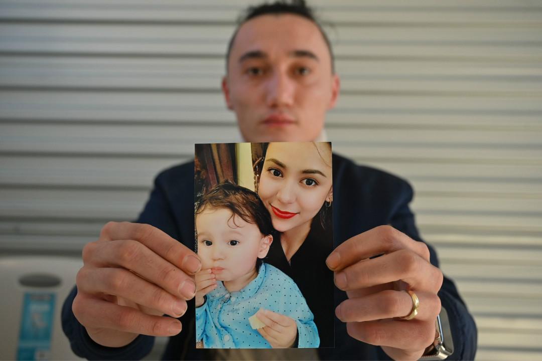 2019年7月17日,澳洲雪梨一家餐館,澳籍維族男子薩達姆·阿布杜薩拉姆(Sadam Abudusalamu)呼籲中國政府允許他的妻子和兩歲孩子(澳籍)離開中國。 攝:Peter Parks/Getty Images