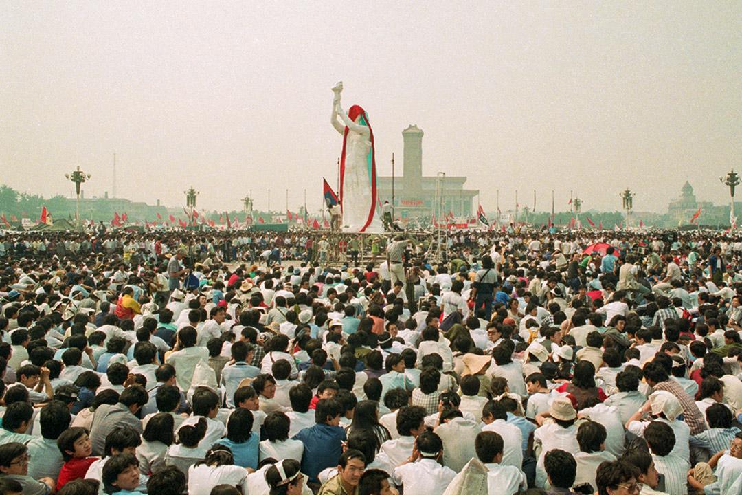八九學運期間的天安門廣場。