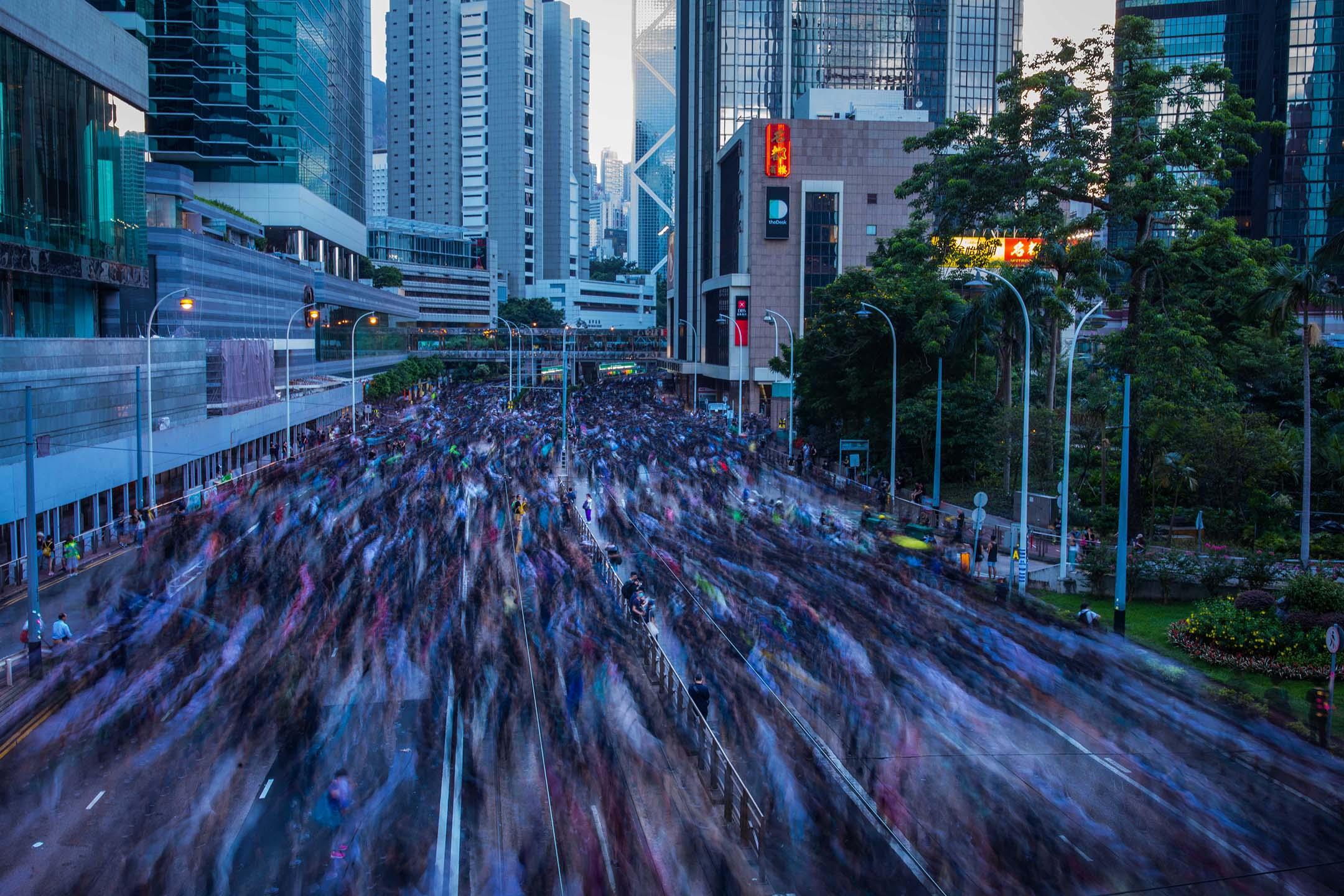 2019年7月21日,香港民間人權陣線再度發起反修例遊行。