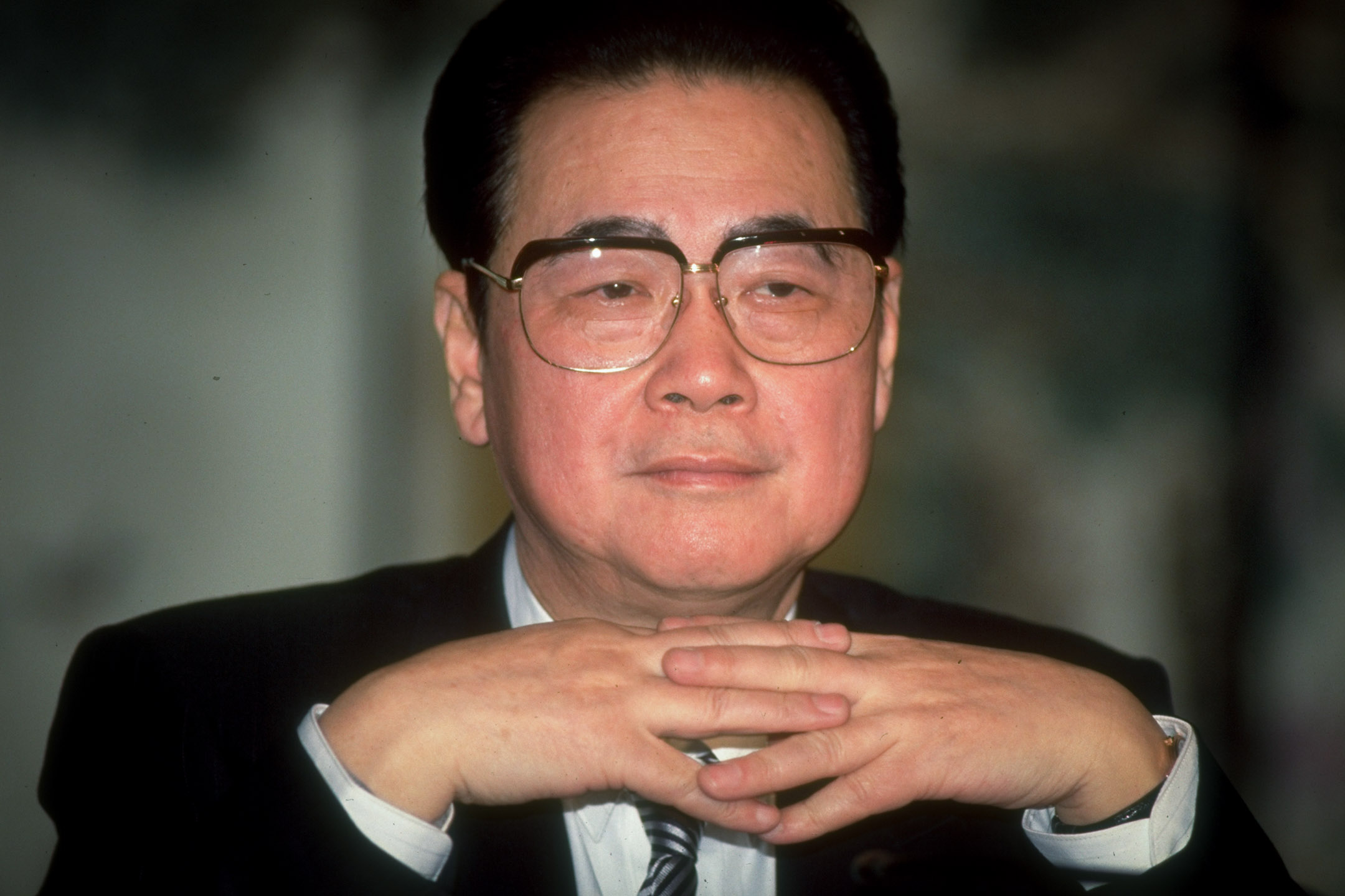 1993年3月第八屆全國人民代表大會期間中國國務院總理李鵬。 攝: Forrest Anderson/The LIFE Images Collection via Getty Images