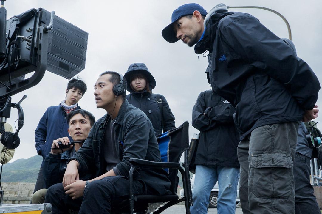 趙德胤導演在《灼人秘密》拍攝現場。