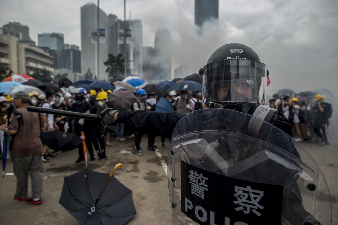 2019年6月12日,警方進行金鐘的清場行動。