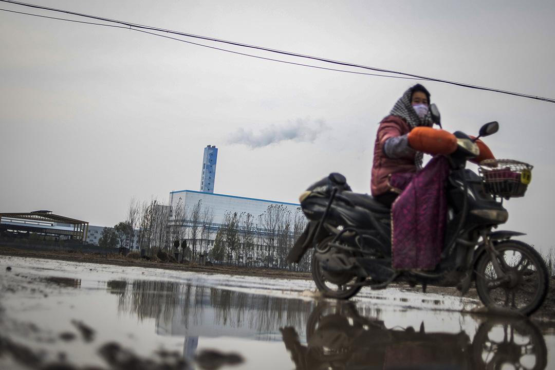 中國山東省的當地焚化廠。