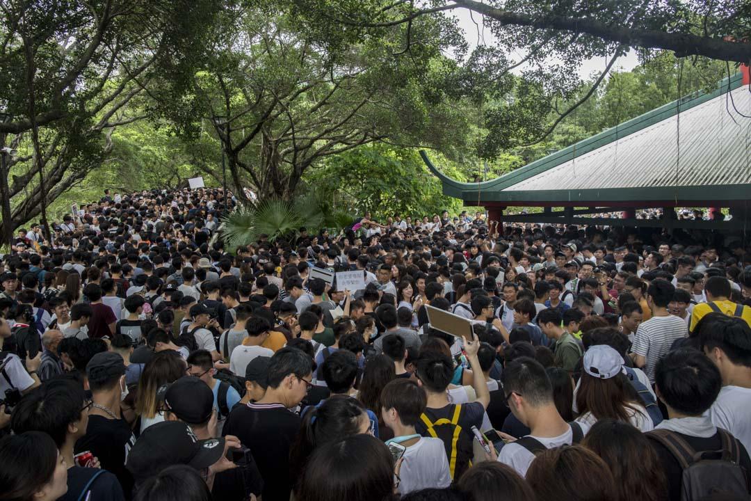 2019年7月6日,「光復屯門公園」行動,大量參加白者塞滿屯門公園。