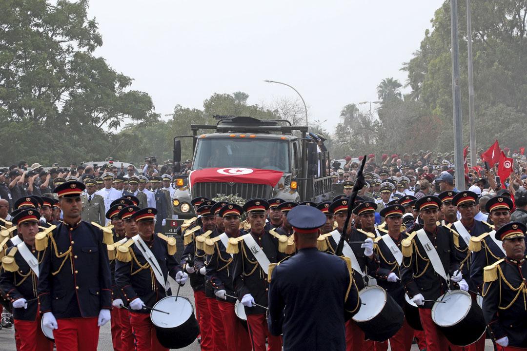 2019年7月27日,突尼西亞總統貝吉·卡伊德·埃塞卜西(Beji Caid Essebsi)的國葬儀式。