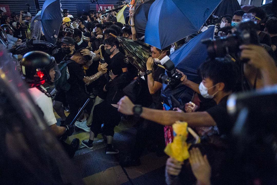 2019年7月7日晚上,警方在旺角彌敦道清場。