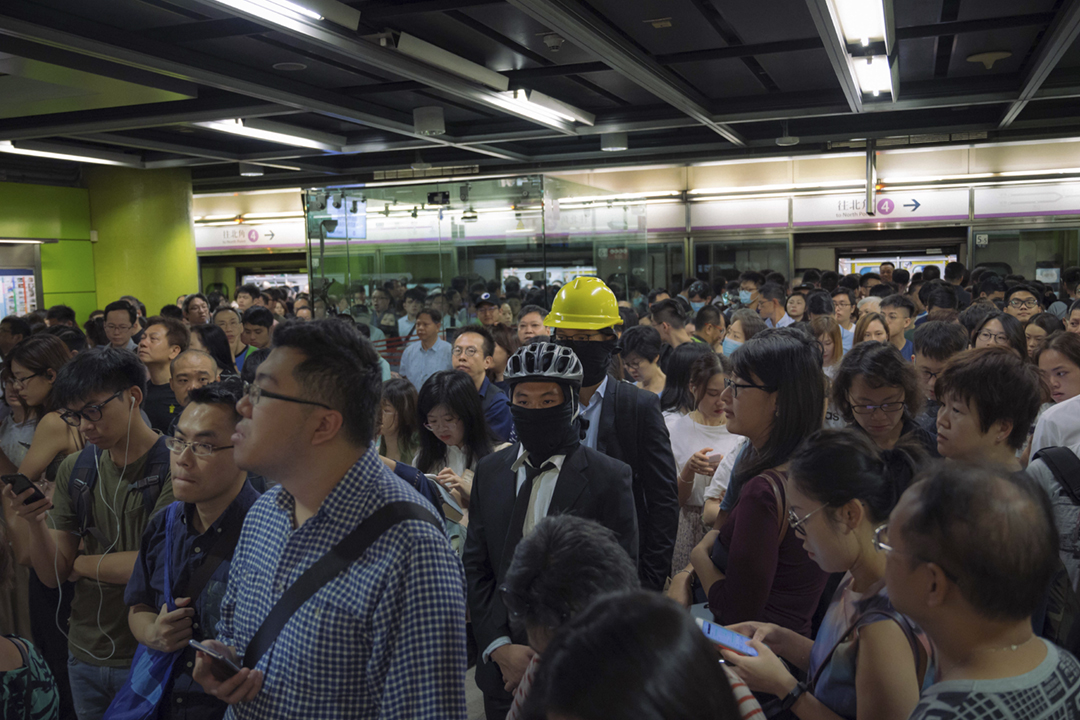 2019年7月30日,再有市民在港鐵發起不合作運動。 攝:Billy H.C. Kwok / Getty Images