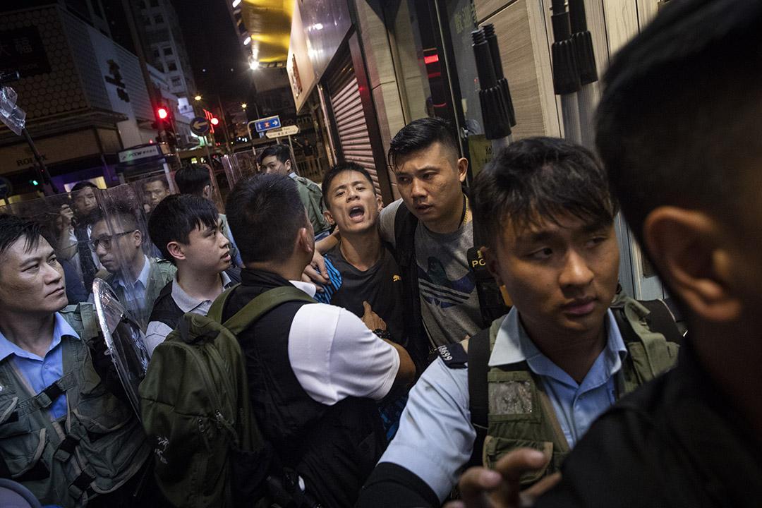 2019年7月8日,警方於彌敦道麥當勞附近帶走一名男子。