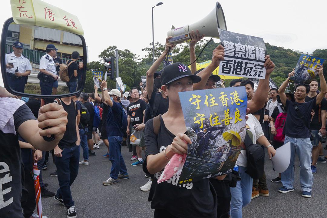 沙田區大遊行。