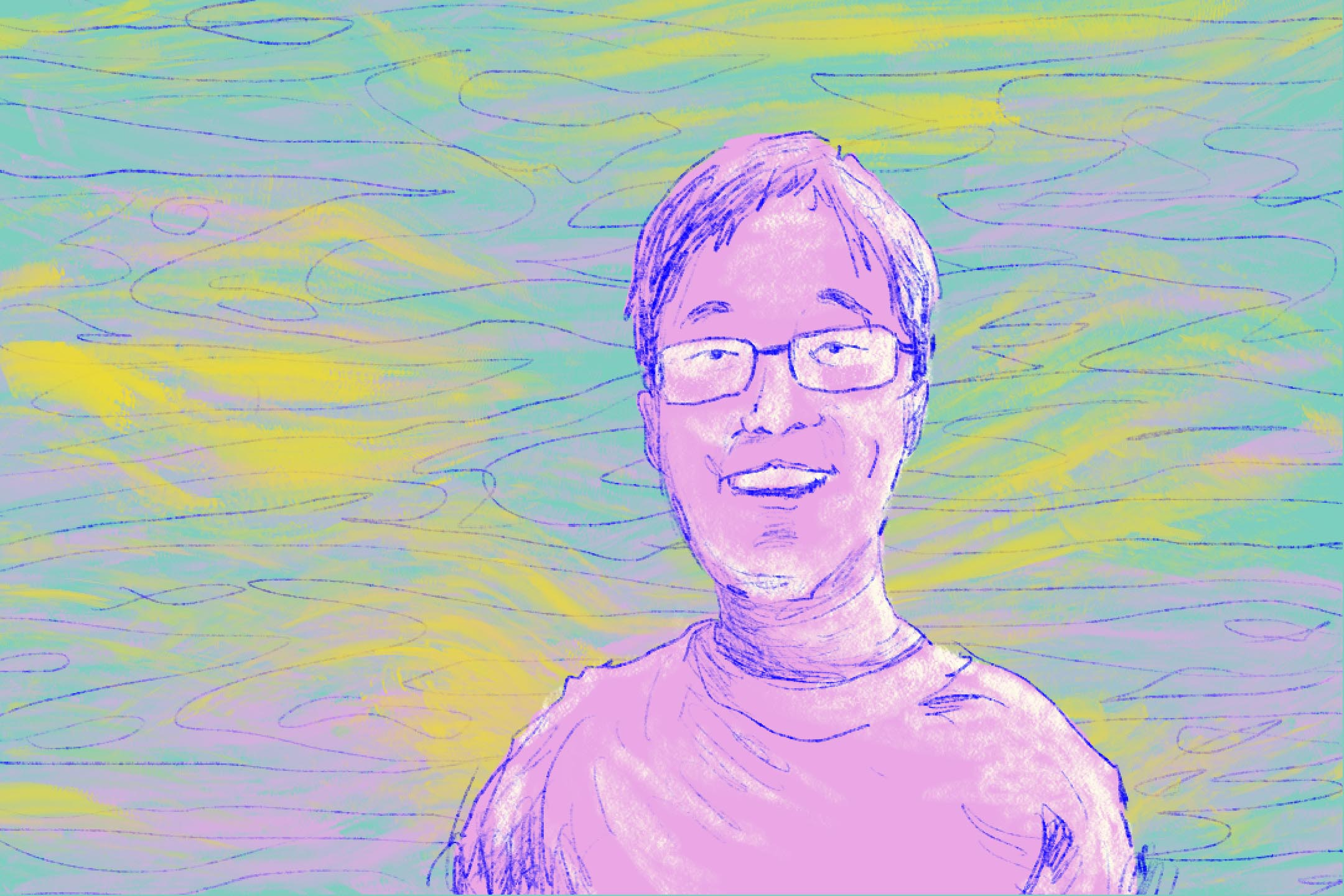 音樂之外,林律希一生與病魔做鬥爭,他自幼患有抽動症,後又罹患其他疾病,需要大量服藥。不過他從未放棄。 插畫:Tseng Lee