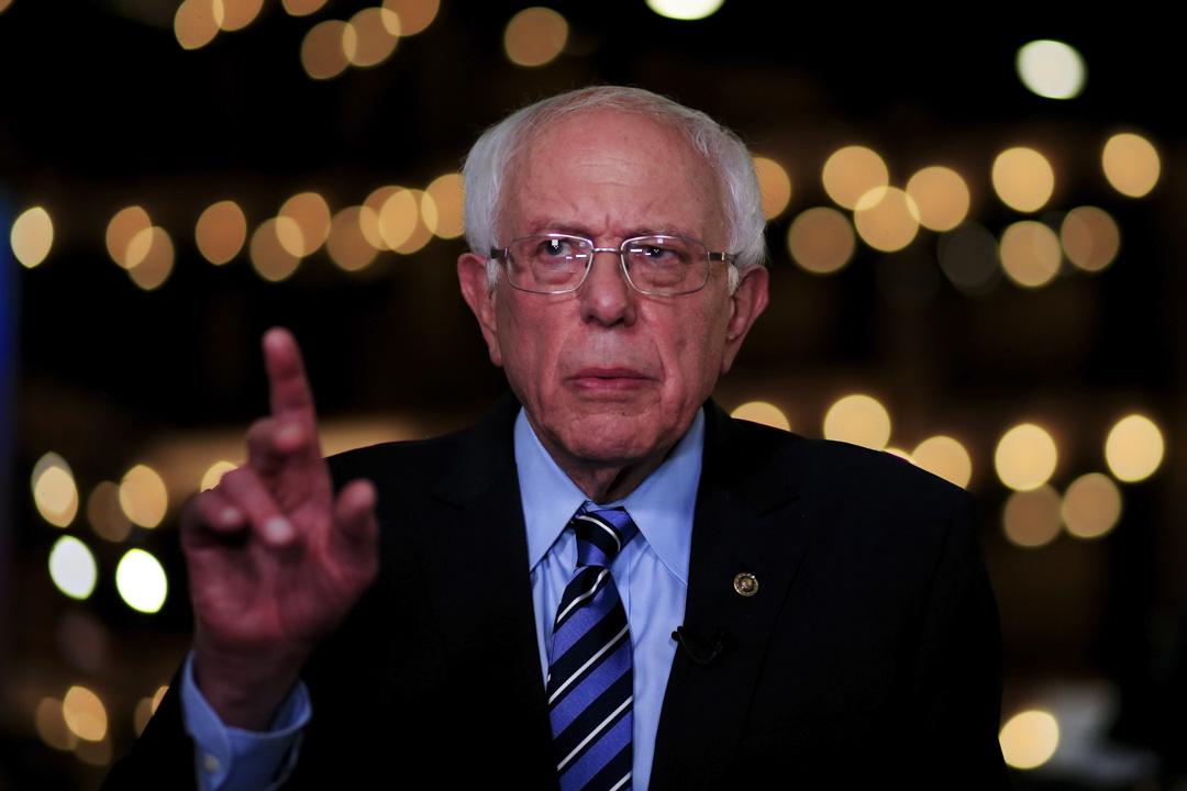 2019年6月27日,美國民主黨初選辯論,桑德斯(Bernie Sanders)。